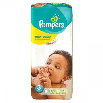 20 Couches Pampers New Baby Premium Protection taille 3