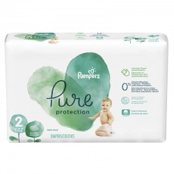 27 Couches Pampers Pure Protection taille 2