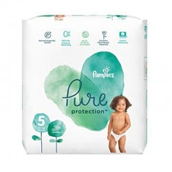 17 Couches Pampers Pure Protection taille 5
