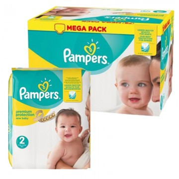93 Couches Pampers New Baby Premium Protection taille 2