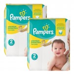 Maxi mega pack 434 Couches de Pampers New Baby Premium Protection sur auchan