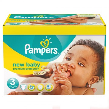 60 Couches Pampers New Baby Premium Protection taille 3