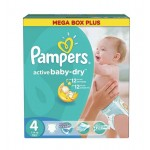 136 Couches Pampers Active Baby Dry taille 4