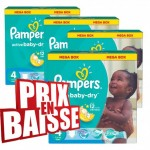 153 Couches Pampers Active Baby Dry taille 4