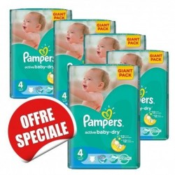 238 Couches Pampers Active Baby Dry taille 4