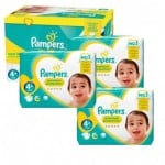 Giga pack 200 Couches Pampers New Baby Premium Protection taille 4+