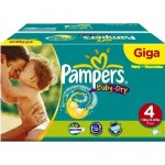 544 Couches Pampers Baby Dry taille 4