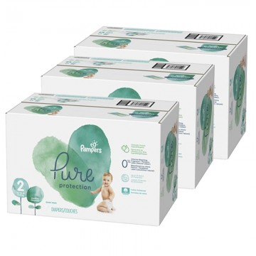 297 Couches Pampers Pure Protection taille 2