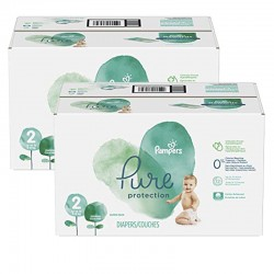324 Couches Pampers Pure Protection taille 2