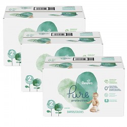 432 Couches Pampers Pure Protection taille 2