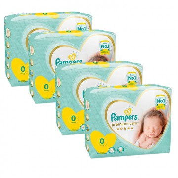 120 Couches Pampers New Baby Premium Care taille 0