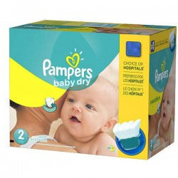 138 Couches Pampers Baby Dry taille 2