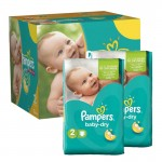 184 Couches Pampers Baby Dry sur auchan