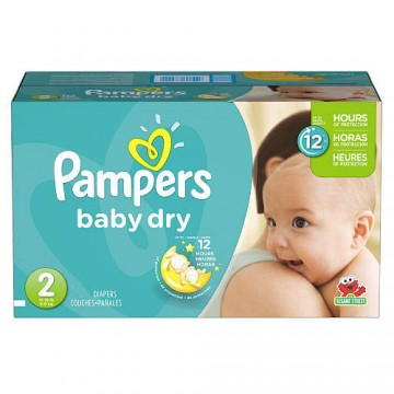 276 Couches Pampers Baby Dry taille 2