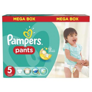 44 Couches Pampers Baby Dry Pants taille 5