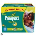 88 Couches Pampers Baby Dry taille 5