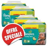 224 Couches Pampers Baby Dry taille 5+