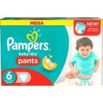 70 Couches Pampers Baby Dry Pants taille 6