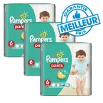 Pack de 98 Couches Pampers Baby Dry Pants sur auchan