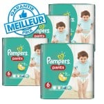 Mega pack 116 Couches Pampers Baby Dry Pants sur auchan