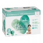 220 Couches Pampers Pure Protection taille 3