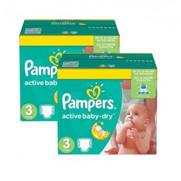 612 Couches Pampers Active Baby Dry taille 3