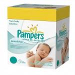 168 Lingettes Bébés Pampers New Baby Sensitive sur auchan
