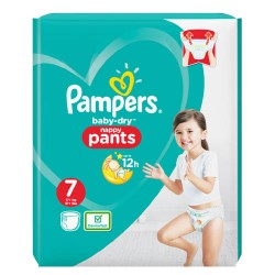 29 Couches Pampers Baby Dry Pants taille 7