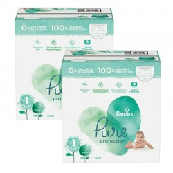 105 Couches Pampers Pure Protection taille 1