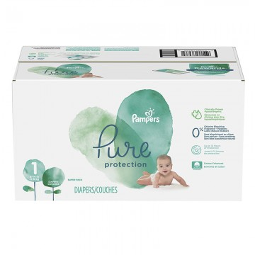 175 Couches Pampers Pure Protection taille 1