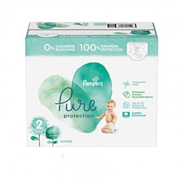 81 Couches Pampers Pure Protection taille 2
