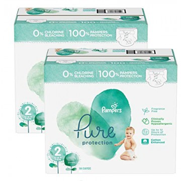 162 Couches Pampers Pure Protection taille 2