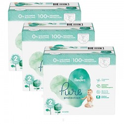 216 Couches Pampers Pure Protection taille 2