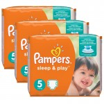 Maxi mega pack Couches Pampers Sleep & Play taille 5