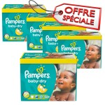 196 Couches de Pampers Baby Dry sur auchan