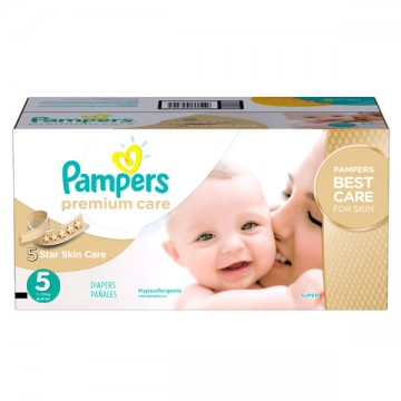 420 Couches Pampers Premium Care taille 5