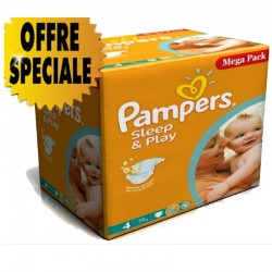 300 Couches Pampers Sleep & Play taille 4