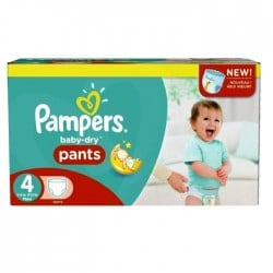 138 Couches Pampers Baby Dry Pants taille 4
