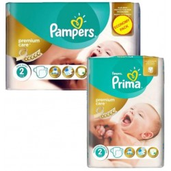 110 Couches Pampers New Baby Premium Care taille 2