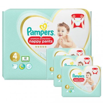 95 Couches Pampers Premium Protection Pants taille 4