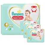 266 Couches Pampers Premium Protection Pants taille 4