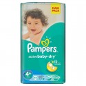 40 Couches Pampers Active Baby Dry taille 4+