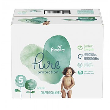 51 Couches Pampers Pure Protection taille 5