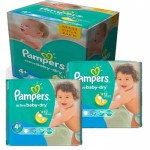 160 Couches Pampers Active Baby Dry taille 4+