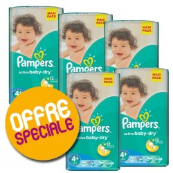 200 Couches Pampers Active Baby Dry taille 4+