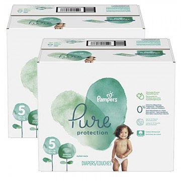 102 Couches Pampers Pure Protection taille 5