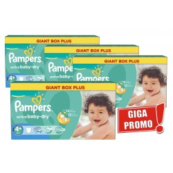 240 Couches Pampers Active Baby Dry taille 4+