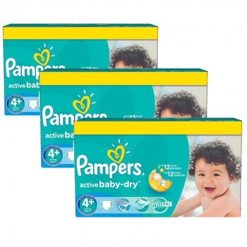 320 Couches Pampers Active Baby Dry taille 4+