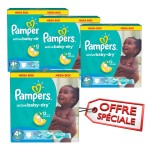 400 Couches Pampers Active Baby Dry taille 4+