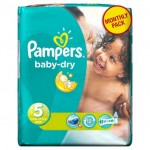 92 Couches Pampers Baby Dry taille 5